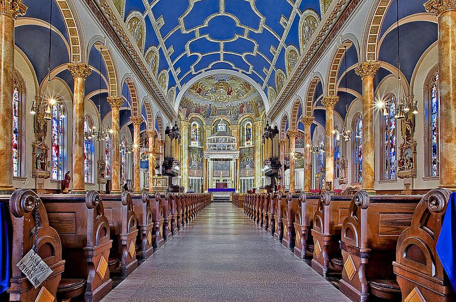 Altar Photograph - Saint Michael Catholic Church by Susan Candelario