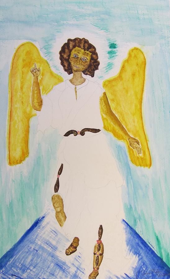 Saint Michael The Archangel Painting - Saint Michael The Archangel Miracle Painting by Debbie Nester
