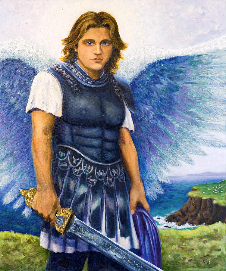 St. Painting - Saint Michael The Archangel by Patty Kay Hall