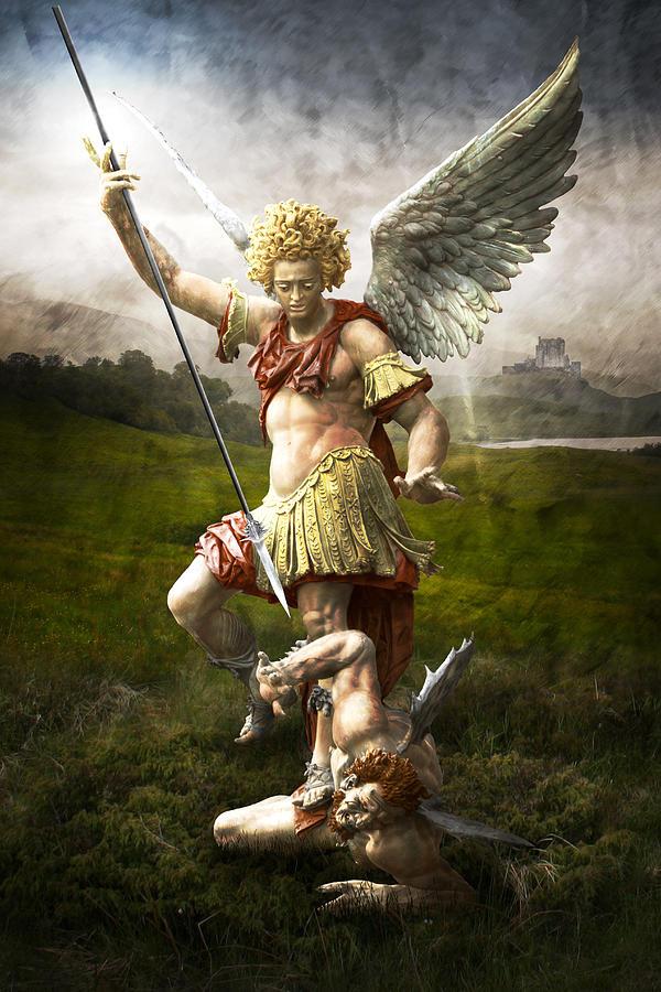 Angel Photograph - Saint Michaels Triumpf by Marc Huebner