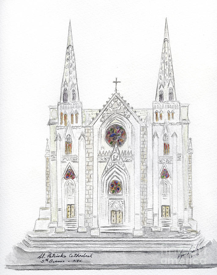 Saint Patricks Cathedral Painting by AFineLyne
