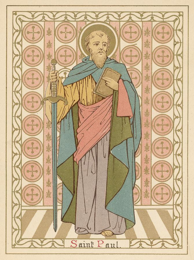 Saint Painting - Saint Paul by English School