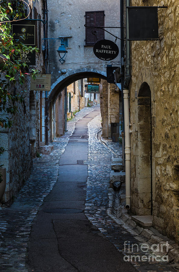 Cote D'azur Photograph - Saint Paul Rue Grande by Inge Johnsson