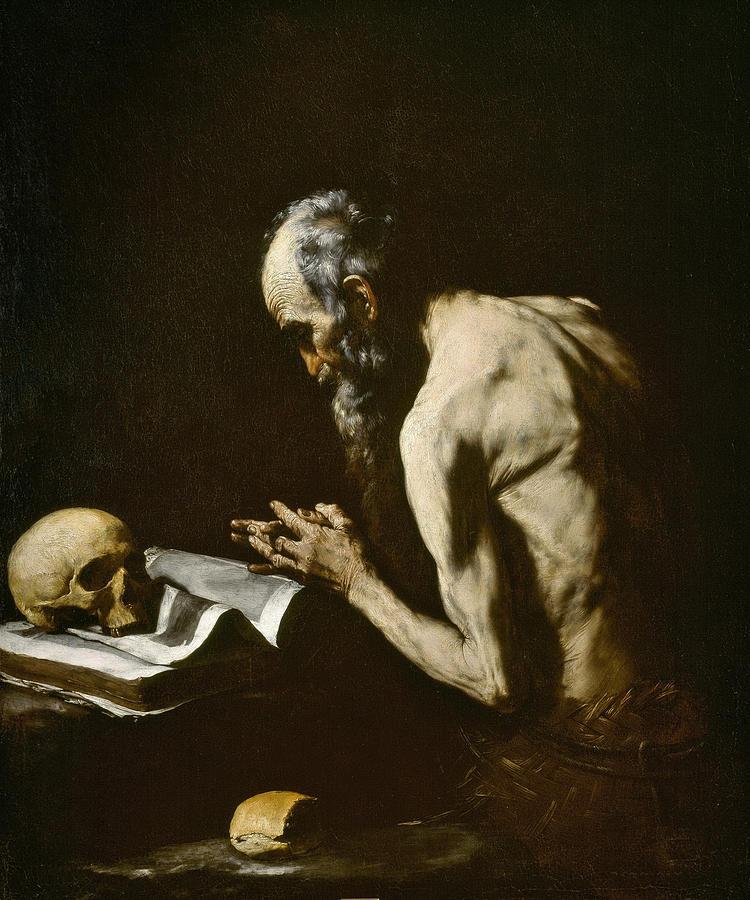 Jusepe De Ribera Painting - Saint Paul The Hermit by Jusepe de Ribera