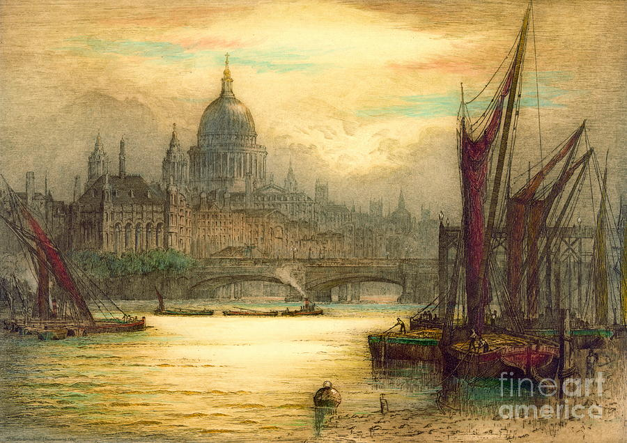 London Photograph - Saint Pauls Cathedral 1902 by Padre Art