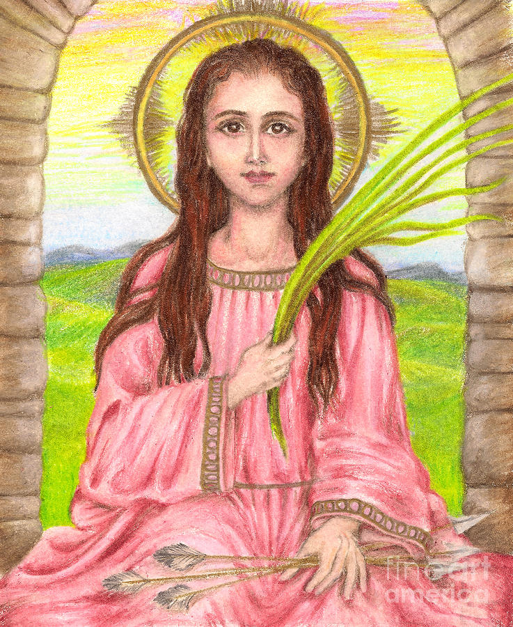 Saint Philomena by Michelle Bien