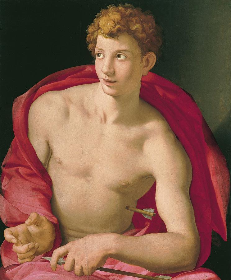 1533 Painting - Saint Sebastian by Agnolo Bronzino