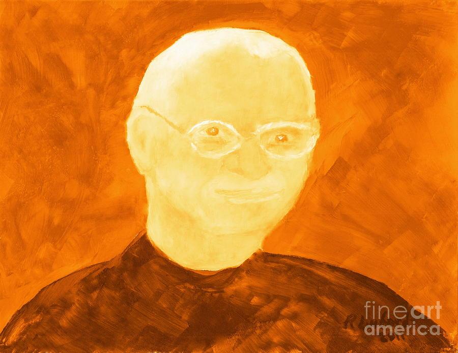 Steve Painting - Saint Steven Paul Jobs 3 by Ricardo Richard W Linford