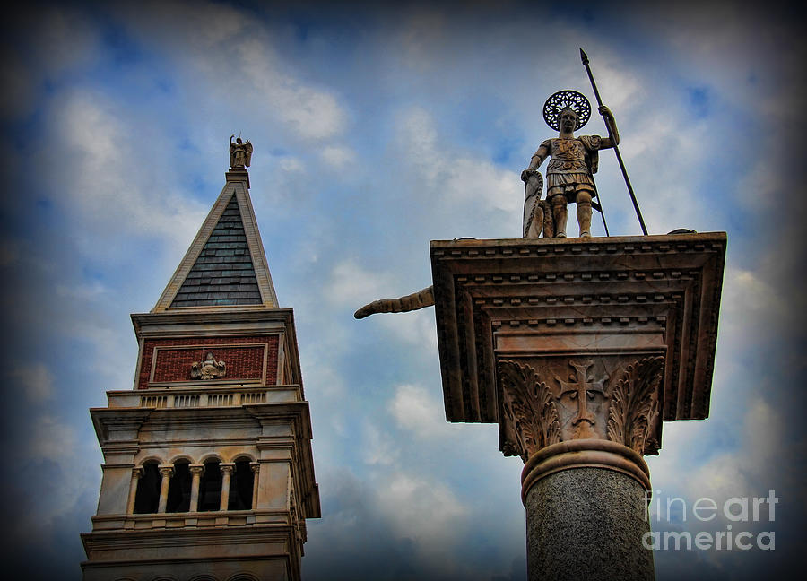 Byzantine Architecture Photograph - Saint Theodore Standing Guard by Lee Dos Santos