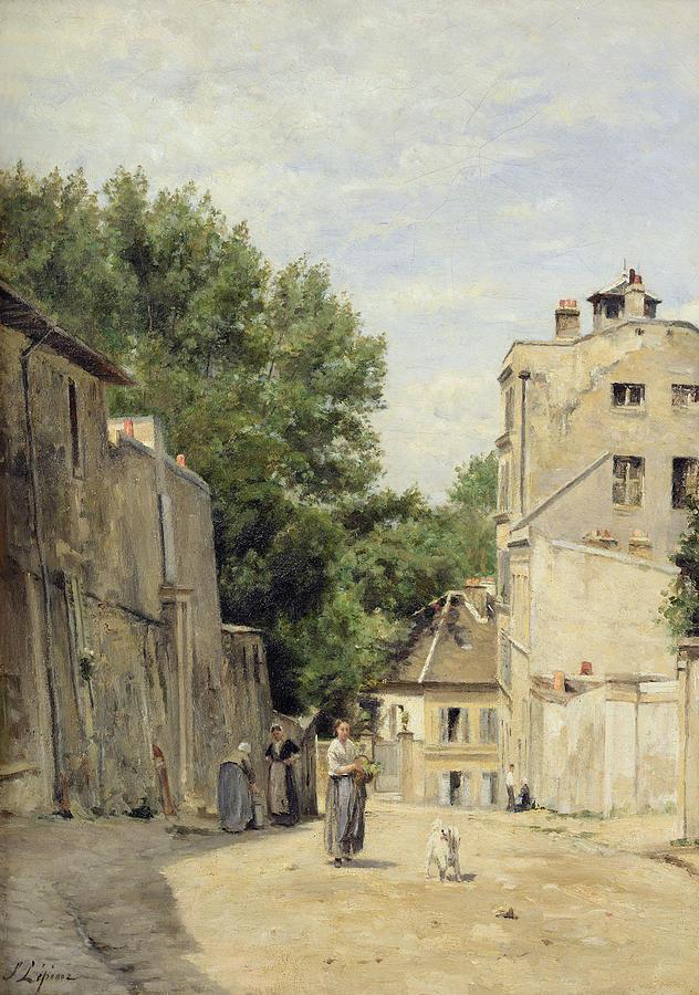 Paris Photograph - Saint-vincent Street, Montmartre Oil On Canvas by Stanislas Victor Edouard Lepine