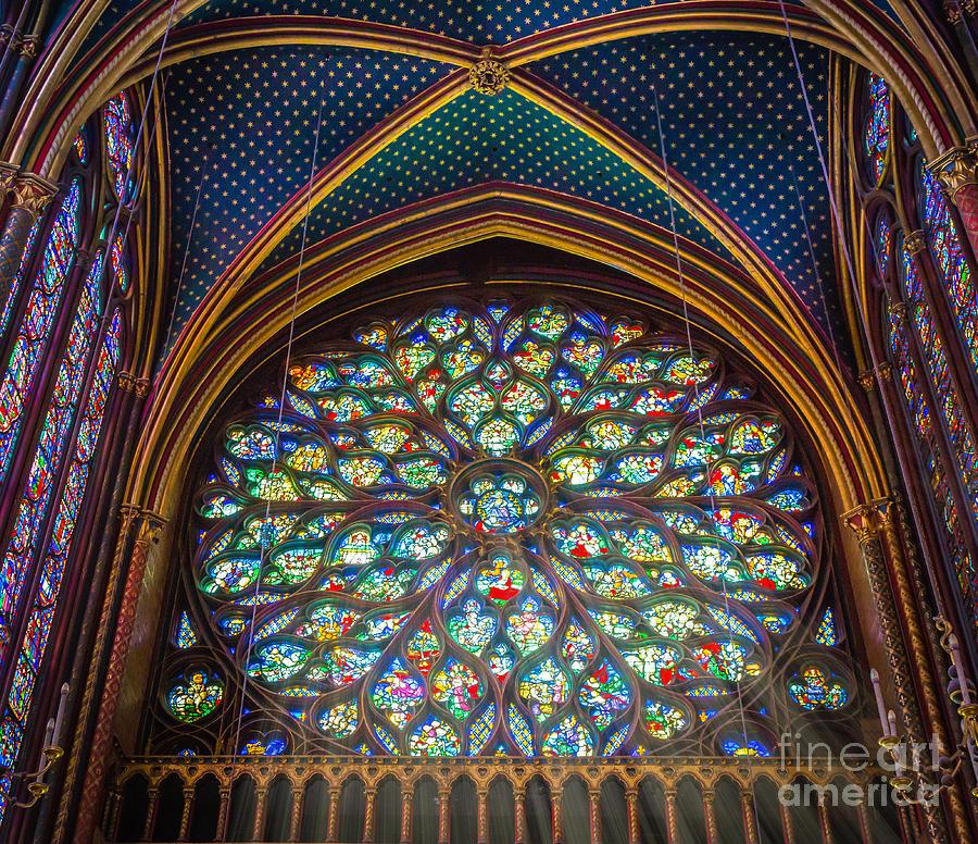 Catholic Photograph - Sainte-chapelle Fenetre Ronde by Inge Johnsson