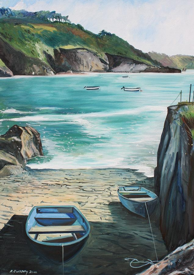 Saints Bay Painting by Rob Sweeney
