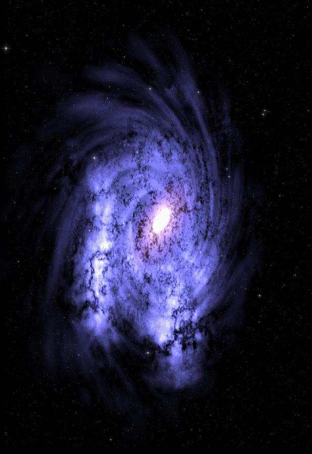 Space Digital Art - Sajas Galaxy by Robert aka Bobby Ray Howle