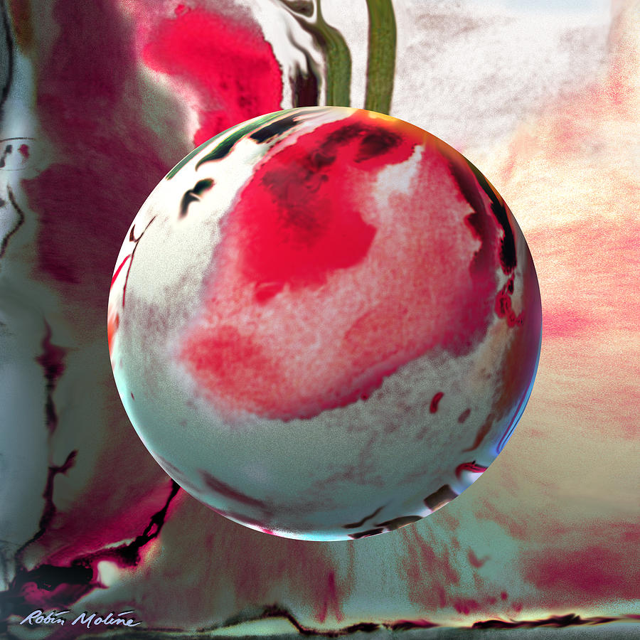Cherry Blossoms Digital Art - Sakura Sphere by Robin Moline