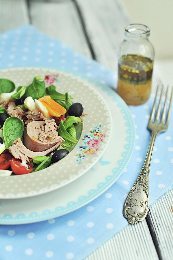 Salad Nicoise Photograph by = Blue Spoon =