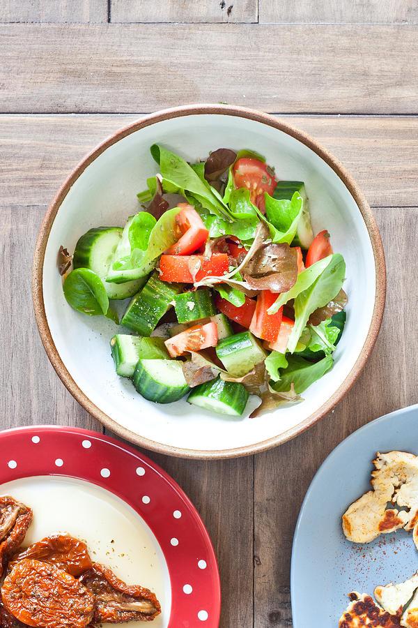 Appetizer Photograph - Salad by Tom Gowanlock