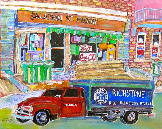 Meat Market Painting - Salaison St. Pierre by Michael Litvack