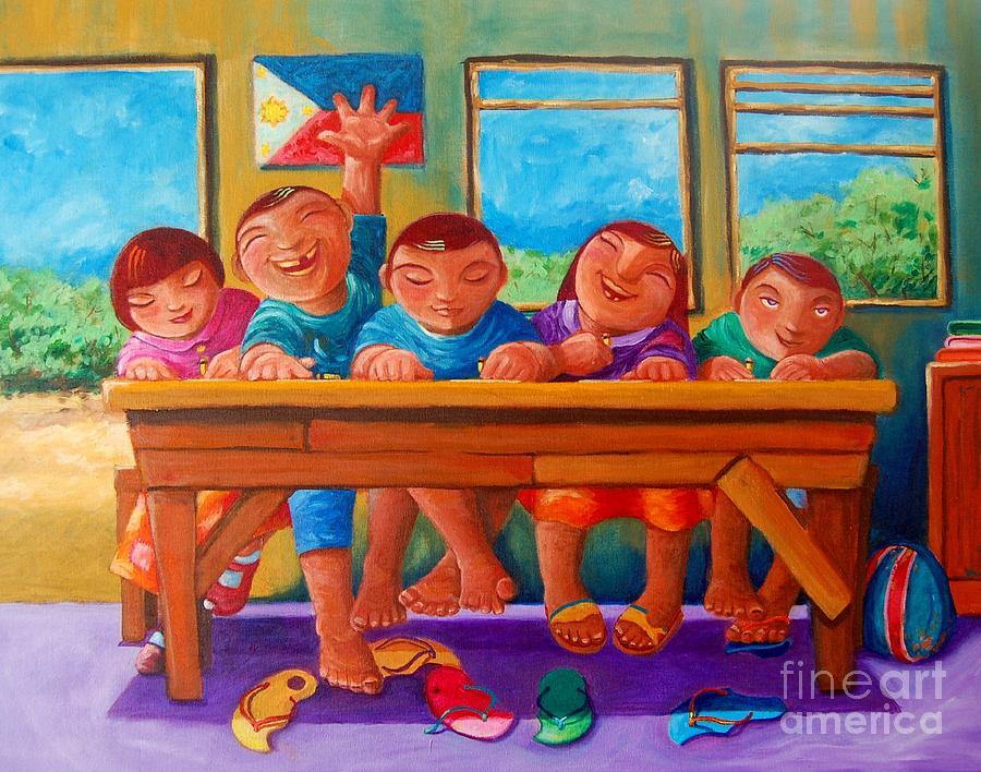 Children Painting - Salat Ngunit Sapat by Paul Hilario