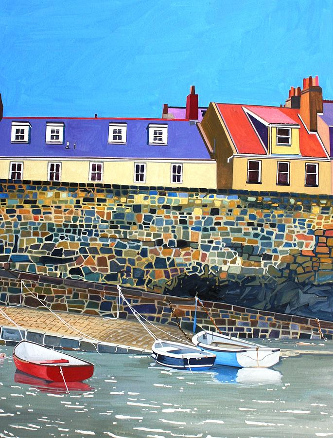 Salerie Harbour Painting by Rob Sweeney