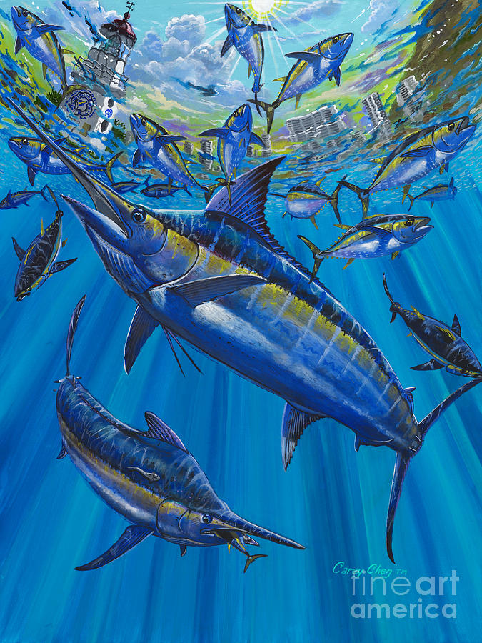 Marlin Painting - Salinas Off006 by Carey Chen