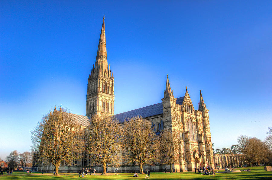 Salisbury Photograph - Salisbury Cathedral by Peggy Berger