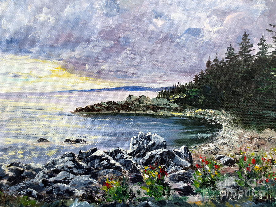 Seascape Painting - Salisbury Cove by Lee Piper