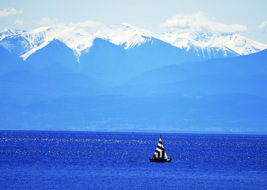 Sailing Photograph - Salish Sea Sail by Annie Pflueger