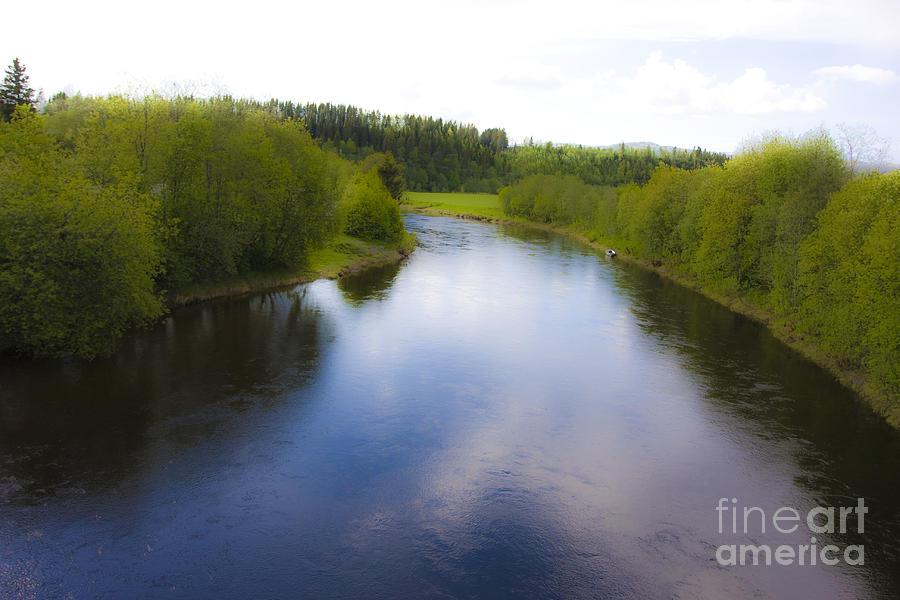 River Photograph - Salmon Catchers Club - Bjora River Norway. Doctor Andrzej Goszcz. by  Andrzej Goszcz