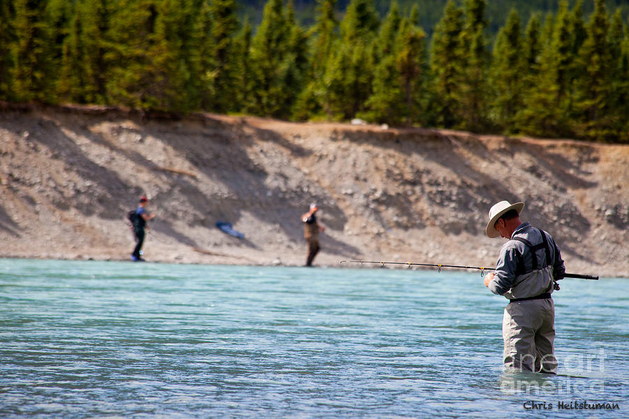 Alaska Photograph - Salmon Fishing by Chris Heitstuman