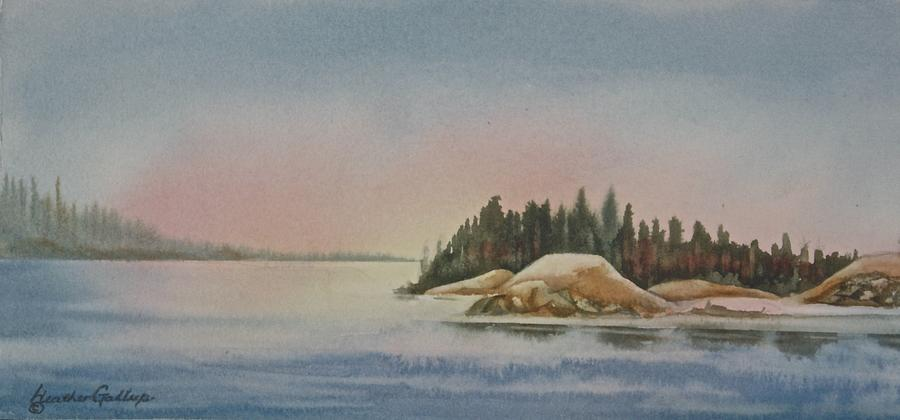 Point Painting - Salmon Point by Heather Gallup