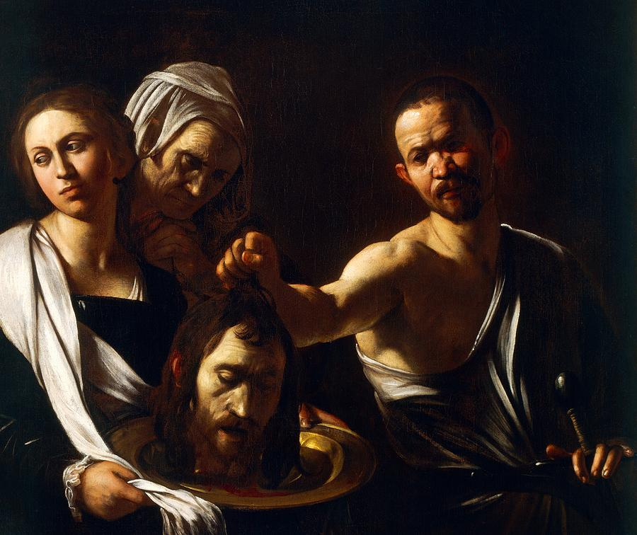 Painting Painting - Salome Receives Head Of John The Baptist by Michelangelo Merisi da Caravaggio
