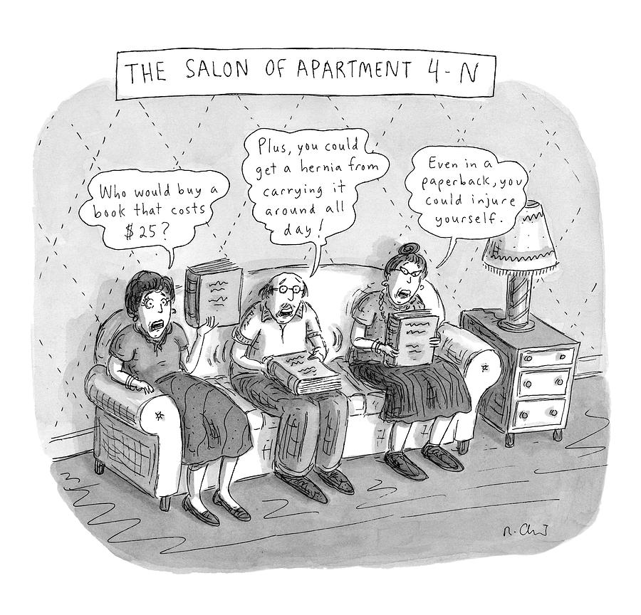 Salon Of Apartment 4-n Drawing by Roz Chast