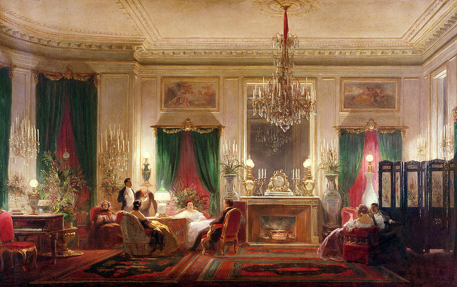 salon of princess mathilde bonaparte 1820 1904 rue de courcelles paris 1859 oil on canvas. Black Bedroom Furniture Sets. Home Design Ideas