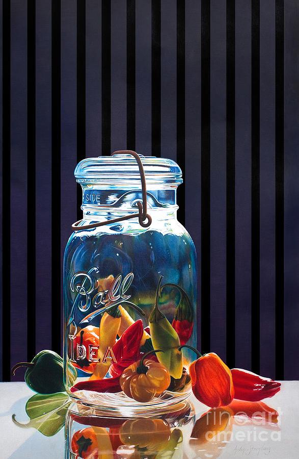 Still Life Painting - Salsa by Arlene Steinberg