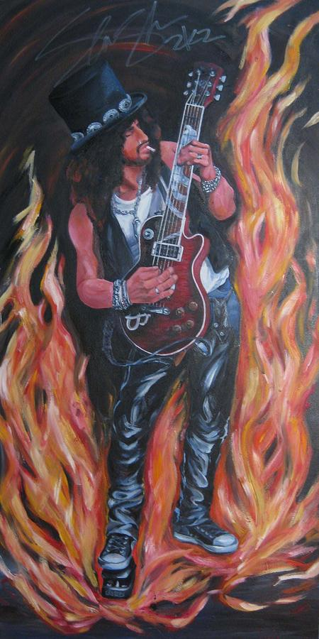 Slash Painting - Salsh With Autographed Signed  by Nori Nurita