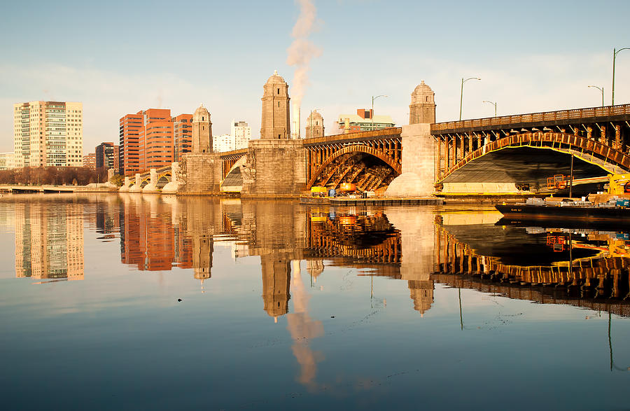 Boston Photograph - Salt-and-pepper Bridge by Lee Costa