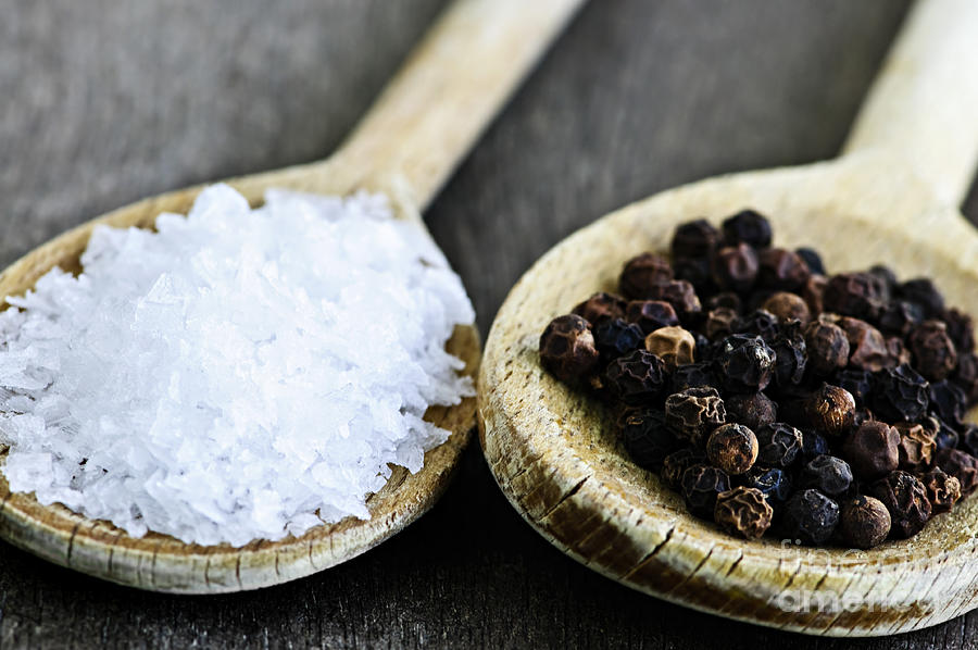 Peppercorns Photograph - Salt And Pepper by Elena Elisseeva