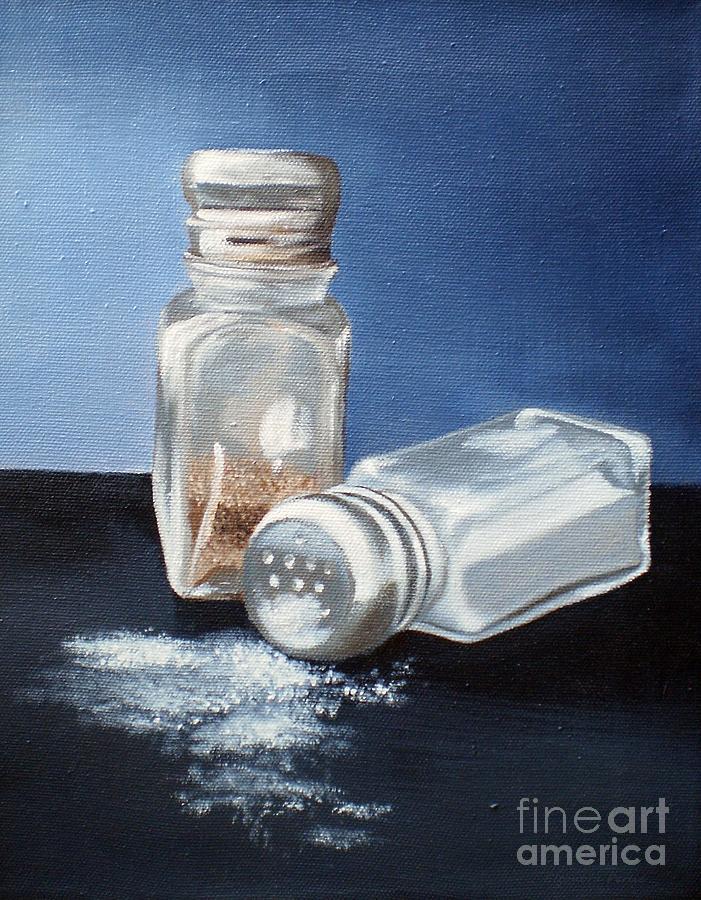 Salt Painting - Salt And Pepper by Eleonora Perlic
