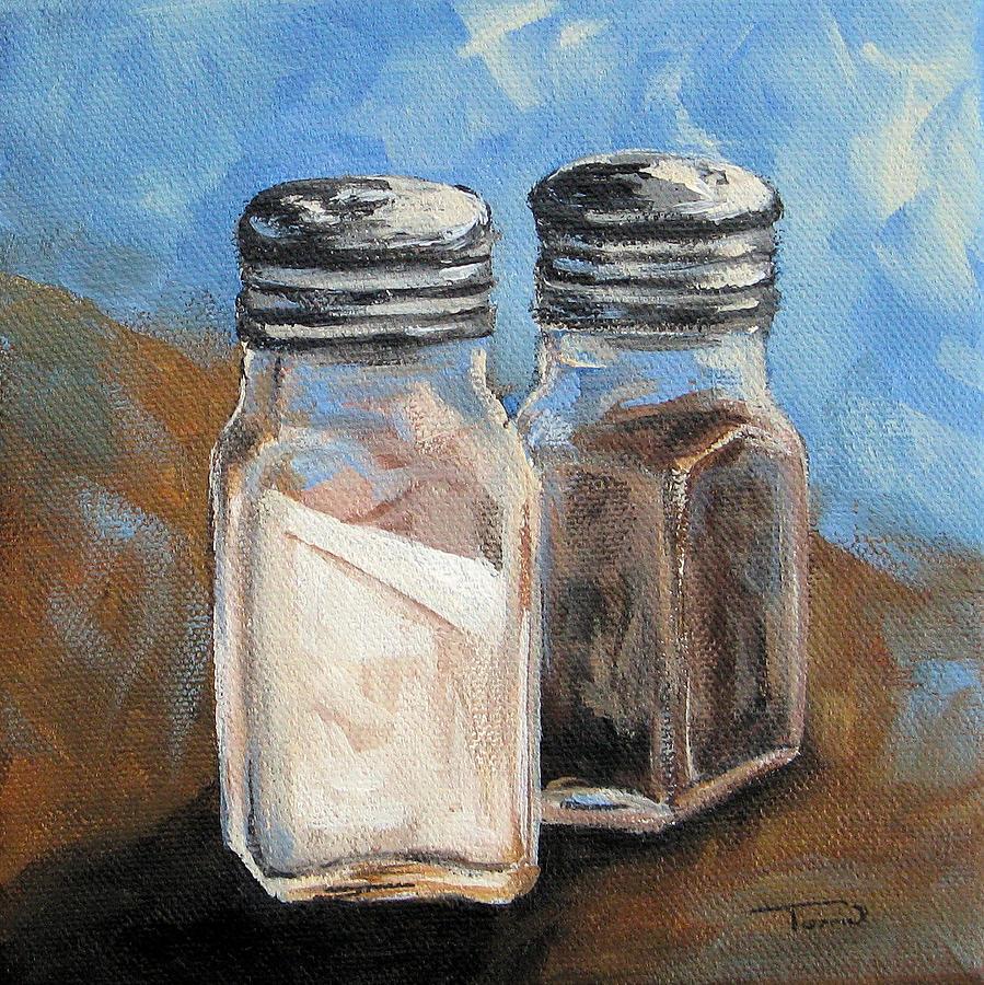Salt Painting - Salt And Pepper Iv by Torrie Smiley