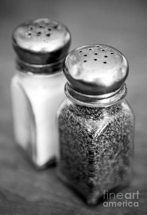 Copyright Owner Photograph - Salt and Pepper Shaker by Iris Richardson