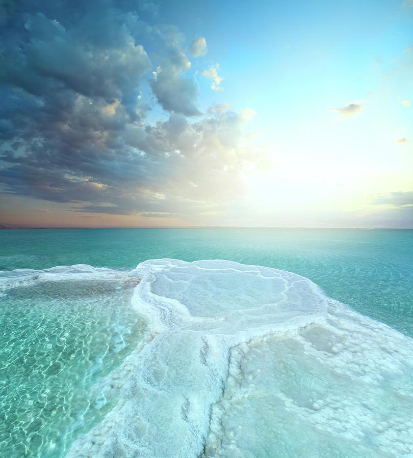 Salt Field In Dead Sea Photograph by Dtokar