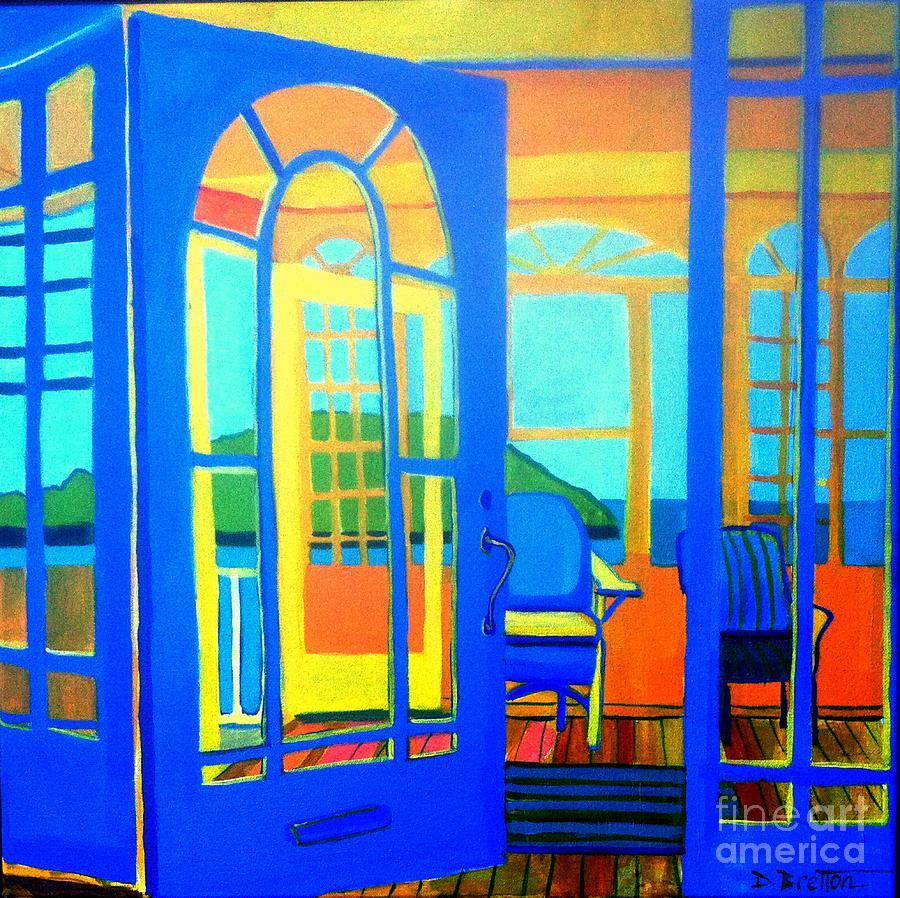 Island Painting - Salt Island Sunporch Gloucester by Debra Bretton Robinson