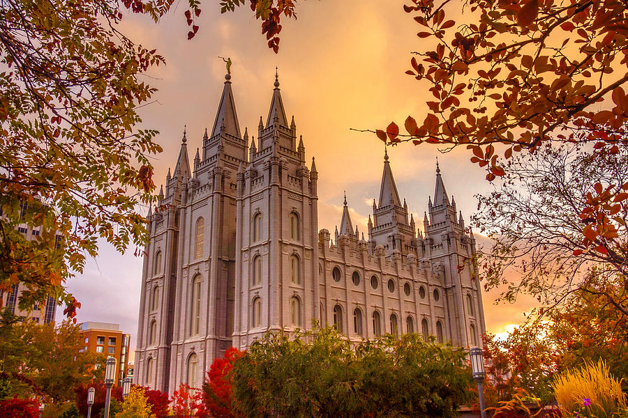 Salt Lake City Temple Photograph - Salt Lake City Temple by Emily Dickey