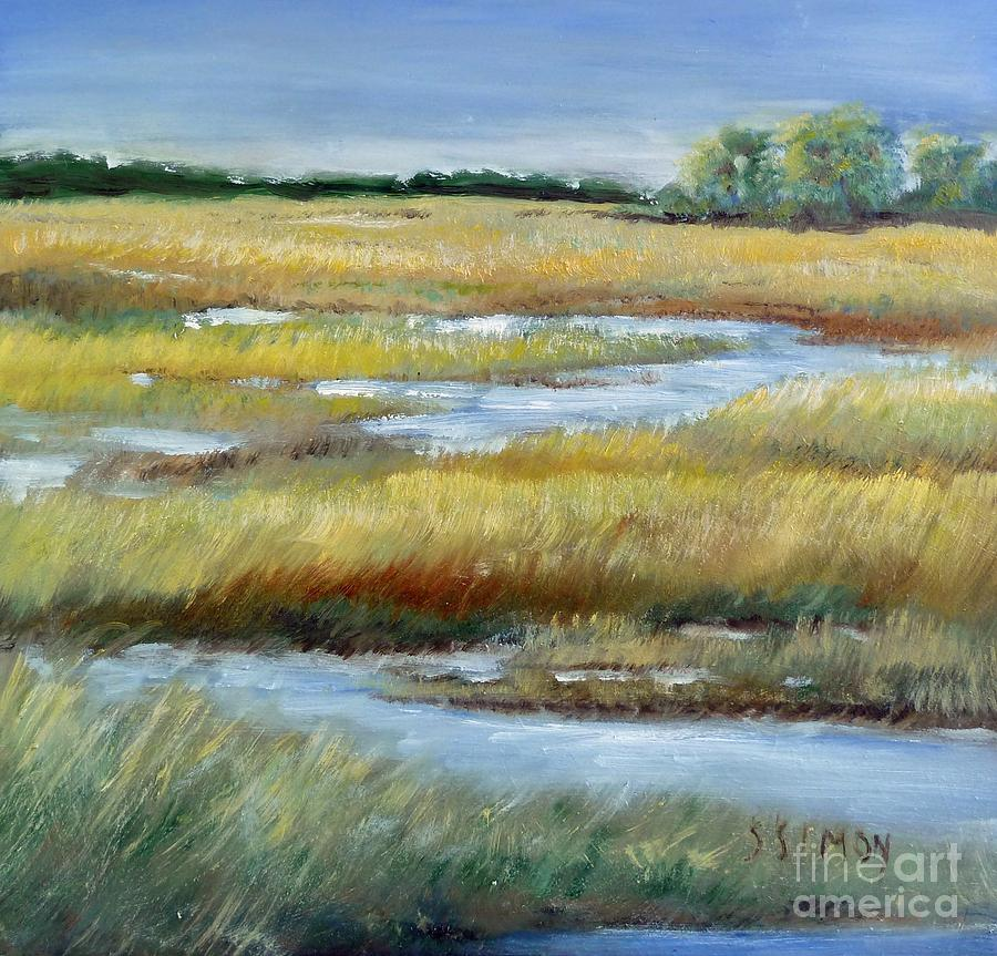 Landscape Painting - Salt Marsh by Sally Simon
