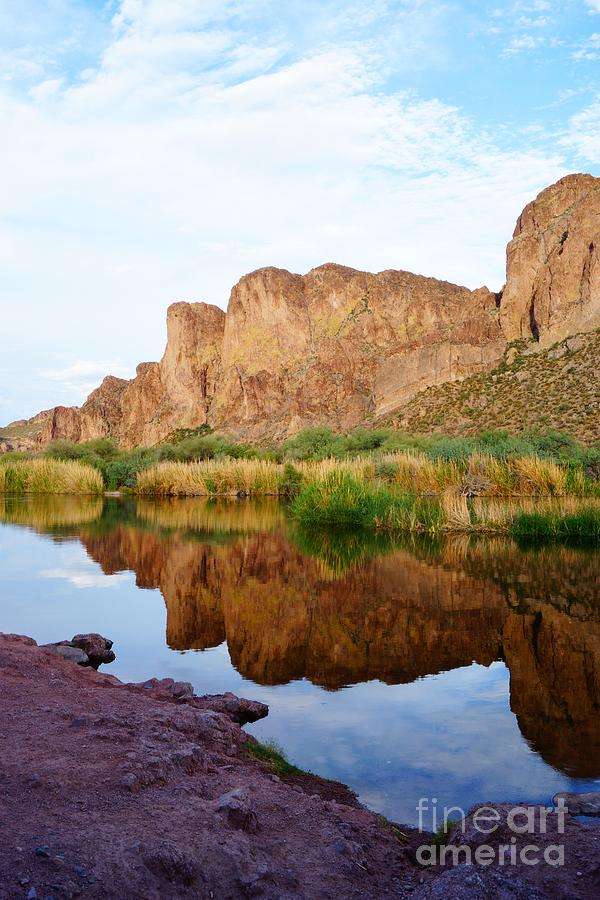 Salt River Reflection Portrait by Kerri Mortenson