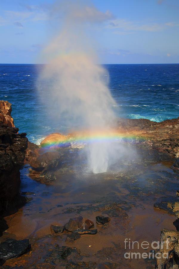 Rainbow Photograph - Salt Spray Rainbow by Mike  Dawson