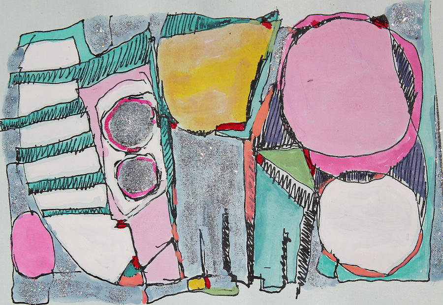 Abstract Painting Painting - Salt Water Taffy by Hari Thomas