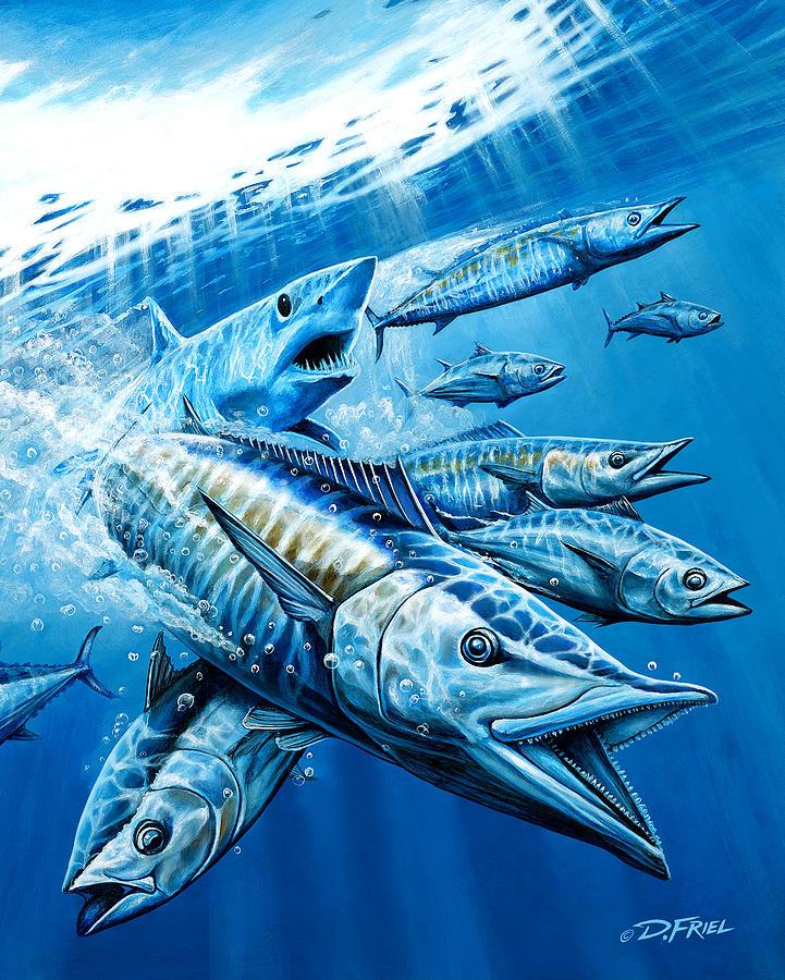 Salt Weapons Winters 2013 Marlin Magazine Painting - Salt Weapons by Dennis Friel