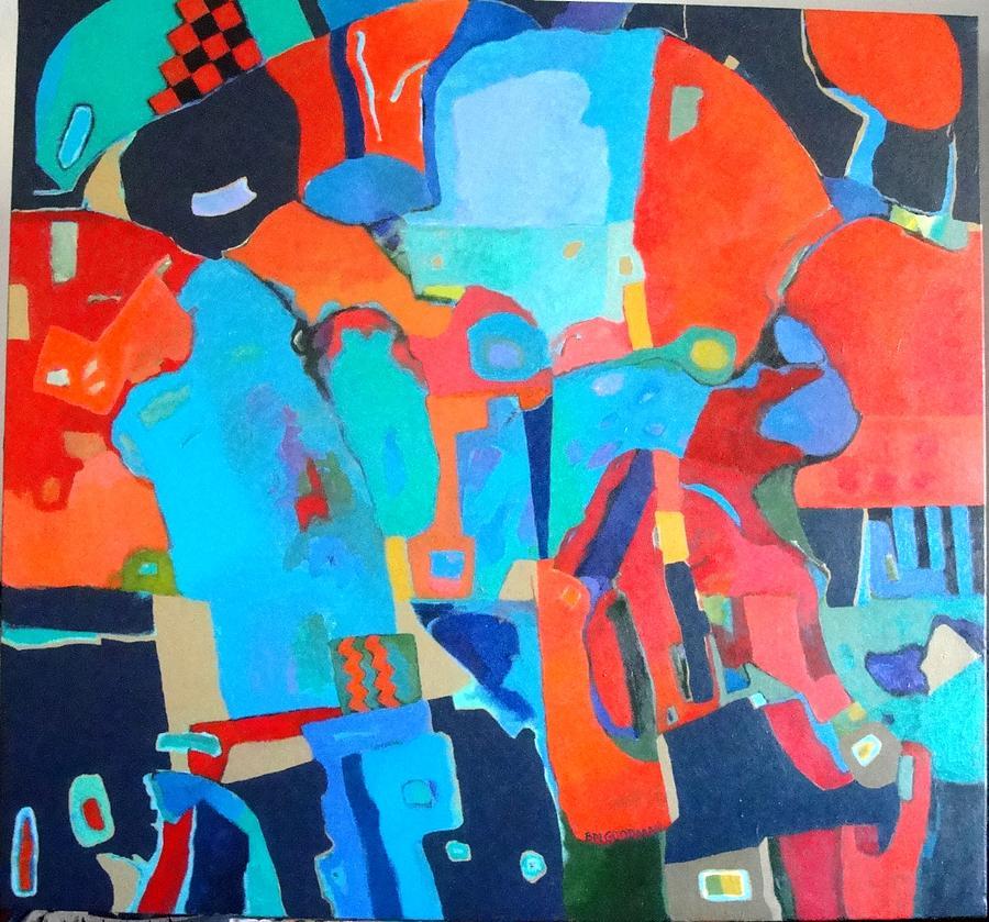 Abstract Painting - Saltillo Summers 2 by Bernard Goodman