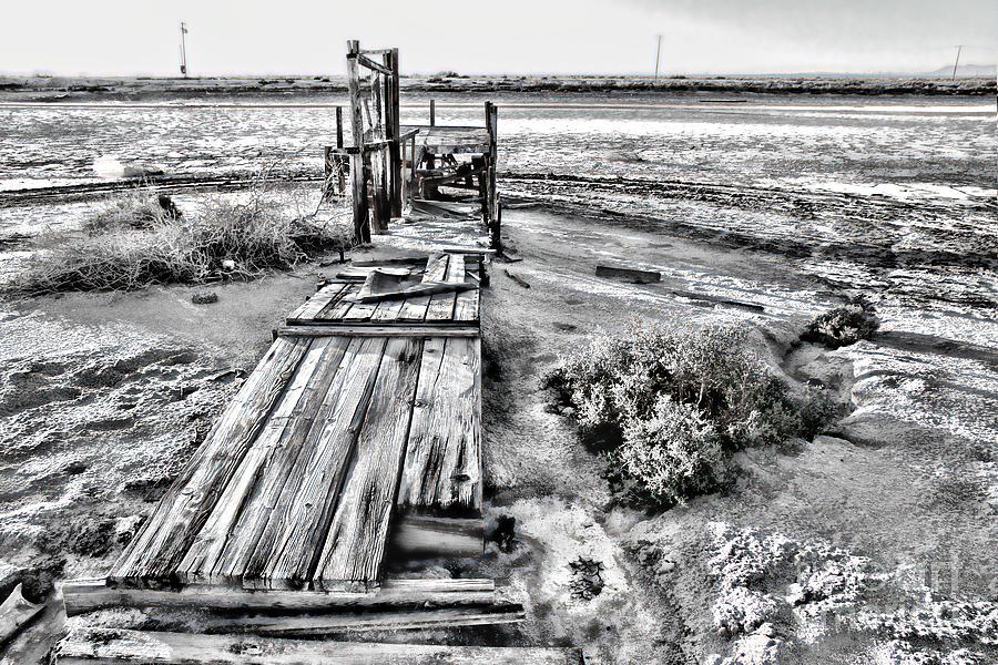 Salton Sea Dock Under Renovation by Diana Sainz by Diana Raquel Sainz
